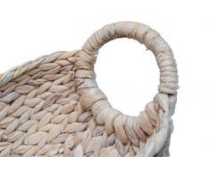 Schale Wasserhyazinthe Größe L Korb Obstkorb Dekokorb Dekoschale Aufbewahrungskorb weiß