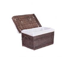 Wäscheschrank, Truhe für Wäsche, Wäschekorb, Wäschepuff aus Weide, Spielzeugkorb aus Weide