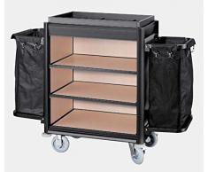 Sammelwagen Reinigungswagen Transportwagen große Ausführung Aluminium Holz