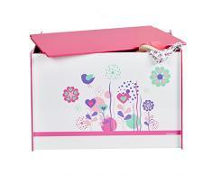 Blumen und Vögel - Spielzeugkiste für Kinder – Aufbewahrungsbox für das Kinderzimmer