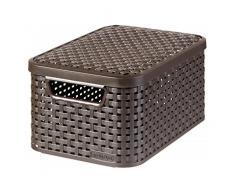 Curver 03617-210-00 Aufbewahrungsbox Style mit Deckel S, 7 L, dunkelbraun