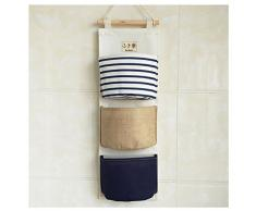 Wasserdicht Tür Hängeorganizer Wandtasche für Dusche,Kinderzimmer 3-Taschen (Blau)