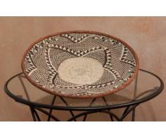 Korbschale Mohi in verschiedene Größen HANDARBEIT aus SIMBABWE Afrika Deko sehr hochwertige geflochtene Korbschale, 43cm