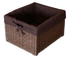 KMH®, Praktische Korb-Box im Rattan-Look (braun mit braunem Innenfutter) (#204049)