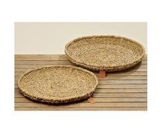 Korbschale aus Seegras braun rund 45cm