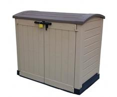 Keter Cabinet Mehrzweckschrank Aufbewahrungsschrank Gartenschrank Gebogen 1200 L