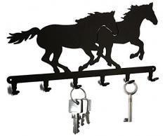 Schlüsselbrett / Hakenleiste * Rennpferd * - Schlüsselboard - 6 Haken