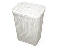 CURVER Style 60L Wäschebox, Plastik, Creme, 44.8 x 34.1 x 61.5 cm