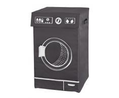 WENKO 3450126100 Wäschesammler Lavo Grau - Wäschekorb, Fassungsvermögen 77 L, 100 % Polyester, 36 x 60 x 36 cm, Dunkelgrau