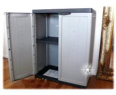Kunststoff Schrank Werkstatt-Schrank REGAL Ablage Gartenschrank abschließbar