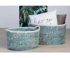 Casablanca Deko Korb Azzurra, 2er Set, 50 und 58 cm