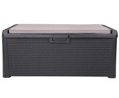 Toomax XL Kissenbox anthrazit 560 Liter Inhalt - mit Sitzfläche 380 kg Tragkraft - absolut wasserdicht - abschließbar
