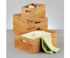 Zeller 13342 Aufbewahrungskiste L, Bamboo 40 x 30 x 21 cm