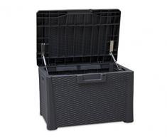 TOOMAX Auflagenbox Kissenbox mit Kissen, Anthrazit, 73 x 50.5 x 49.5 cm