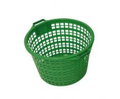 Xclou 343181 Gartenkorb rund 25 kg, Kunststoff, grün