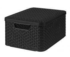 CURVER 03618-308-00 Aufbewahrungsbox Style mit Deckel M, 18 L, anthrazit
