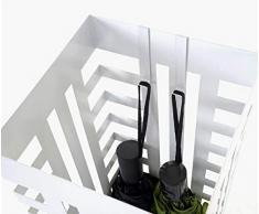 Mendler Schirmständer HWC-C78, Regenschirmständer Schirmhalter Regenschirmhalter, quadratisch 55cm ~ Gitter, weiß