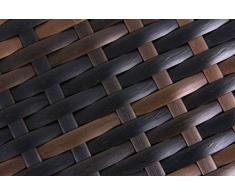 Zelsius - Polyrattan Auflagenbox, Gartentruhe, Kissenbox, 133 x 62 x 55 cm, Terrassenbox in verschiedenen Farben (braun)