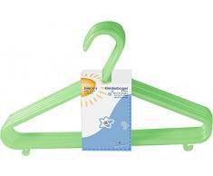 Bieco Kleiderbügel Kinder 32 St. Grün | Länge ca 30 cm | Baby Kleiderbügel | Kunststoff Kleiderbügel Kinder Baby | Baby Organiser Für Kleiderschrank | Kleiderbügel Baby | Baby Clothes Hangers