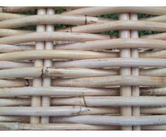 Kaminkorb, Holzkorb, aus Rattan-Peddigrohr, hell naturfarbig
