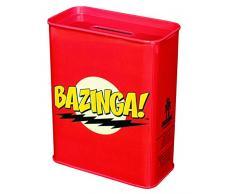 Warner Bros. Bazinga Spardose, Kaffeekasse - Big Bang Theory - Coin Bank Metall, rot 9 x 4,5 x 11,5 cm
