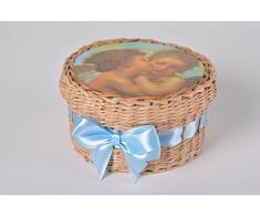 Handmade Aufbewahrungskorb mit Deckel kleiner Korb geflochtener Korb Haus Deko