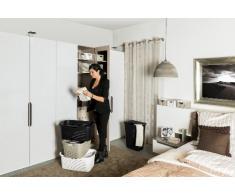 Sundis Wäschesammler Country in Rattan Optik - stabiler Kunststoff Wäschesammler, 50Liter - leichte Wäschetruhe mit guter Belüftung - einfach zu reinigen - 45 x 33.8 x 57.5 cm - cappuccino