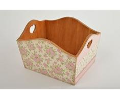 Aufbewahrung Korb handmade Deko Holz Kiste Box aus Holz in Decoupage Technik