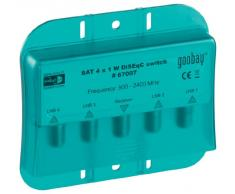 Goobay 67007 DiSEqC 2.0 Umschalter 4x1 - mit Wetterschutzhaube