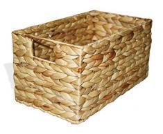 KMH®, Praktische Korb-Box Hidalgo aus geflochtener Wasserhyazinthe (#204035)
