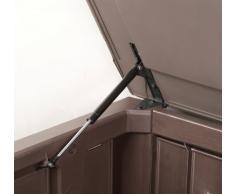 Keter 17190202 Kissenbox Jumbo Storage Box 570 L Holzoptik, Kunststoff, braun
