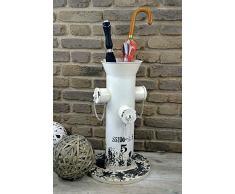 Livitat® Schirmständer 60 x 35 cm Regenschirmständer Hydrant Vintage Blech Metall LV5086 (Weiß)