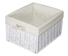 KMH Praktische Korb-Box JYTTE im Rattan-Look (weiss) (#204039)