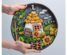 Wand Teller aus Keramik rund