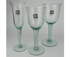 6 Stück von Kelchglas Campanillo 500ml Weinglas Weinkelch recycled Glas La Mediterranea