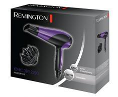 Remington Ionen-Haartrockner D3190 (2200 Watt, Ionenpflege-schonendes Styling, inkl. 2 Aufsätze, 3 Heiz- & 2 separate Gebläsestufen + Abkühlstufe, Keramik-Ionen-Ring für gleichmäßige Wärmeverteilung)