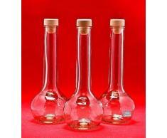 10 leere Glasflaschen 200 ml TUL-HGK zum selbst Abfüllen 0,2 Liter l Likörflaschen Schnapsflaschen Essigflaschen Ölflaschen von slkfactory