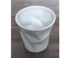Topf für Küchenutensilien Vase Porzellan weiß 'zerknautschte' Ausführung