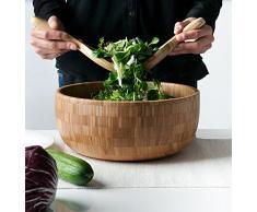 schöne Premium Qualität Salatbesteck 2-teilig aus Bambus, 20 x 10.5 x 2cm, 160g (80g each) AUTHENTIC