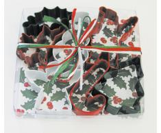 Eddingtons Ausstechförmchen Weihnachtsmotive und -farben, 7-teiliges Set