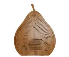 Faltkorb Bambus Obstkorb Dekoschale Obstschale Holz Birne faltbar