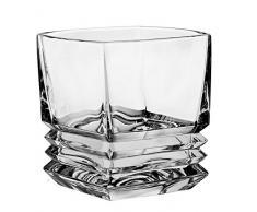 Bohemia Whisky-Set 6 Whiskygläser + Karaffe aus Bleikristall MARIA