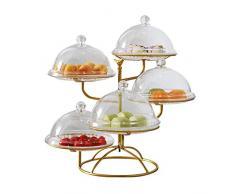 S-tubit 5-lagiger Obstkorb, Obstschale, Trockenobsttablett und Kuchenblech, waschbare Metall-Snackschale, Snack-Ständer, Kuchenständer für Wohnzimmer und Küche Latest