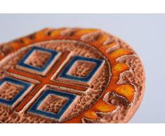 Wandteller aus Keramik Makosch