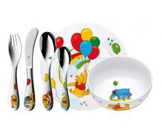 WMF Disney Winnie Pooh Kindergeschirr, mit Kinderbesteck 6-teilig, ab 3 Jahren, Cromargan Edelstahl poliert, spülmaschinengeeignet, farb- und lebensmittelecht
