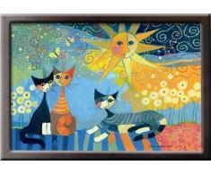 WENKO 4926023500 Knie-Tablett Rosina Wachtmeister, MDF, 40 x 9 x 30 cm, Mehrfarbig