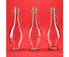 6 leere Glasflaschen Karaffe 250ml oder 500 ml WÄHLBAR Glaskaraffe EGIZI Essig/ÖL Flaschen mit Verschluss Karaffe aus Glas Ausgiesser Likörflaschen Schnapsflaschen Essigflaschen Ölflaschen Saftflaschen 0,2 5 l/0,5l liter WÄHLBAR von SLK GmbH (250ml)