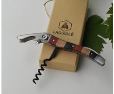 LAGUIOLE - Einhebel-Sommelier - Messer mit Korkenzieher-, Kapselschneider- und Flaschenöffnerfunktionen - Bedienkomfort - Geschenkbox - -