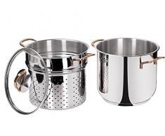BEPER Spaghetti-Topf-Set, Silber, 7 Liter