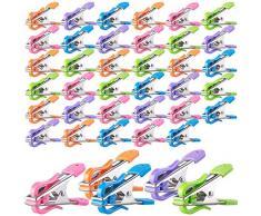 PEARL Softklammern: Soft-Grip-Wäscheklammern mit Doppel-Kleiderhaken, 40 Stück, 5 Farben
